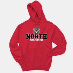 North - 996 Jerzees Adult 8oz. 50/50 Pullover Hooded Sweatshirt