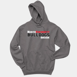 Bulldogs - 996 Jerzees Adult 8oz. 50/50 Pullover Hooded Sweatshirt